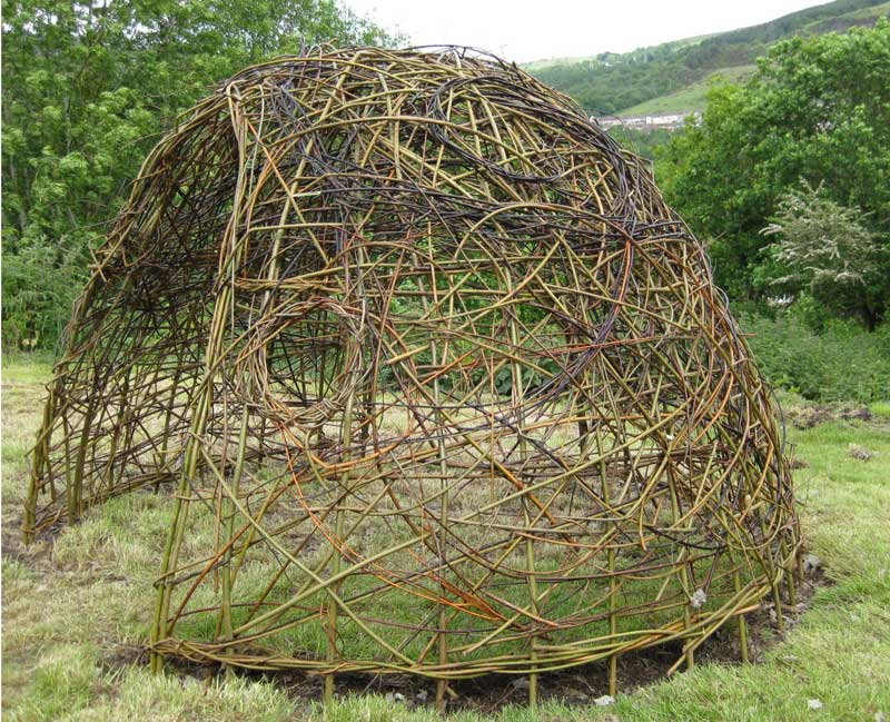 living willow wales glyncoch community garden dome