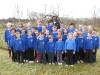 Group shot in front of living willow play area at Ysgol Cwrtnewydd by Living Willow Wales