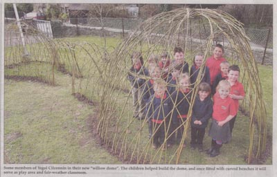 Ysgol Cillcennin School Living Willow Structure