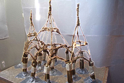 Model of living willow cathedral